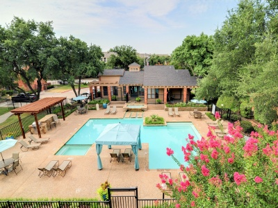 One of three pools at The Oaks of North Dallas